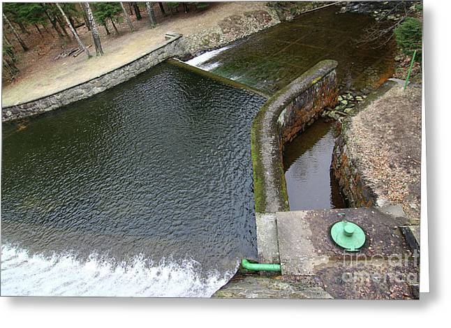 Drain Channel Of Dam Greeting Card