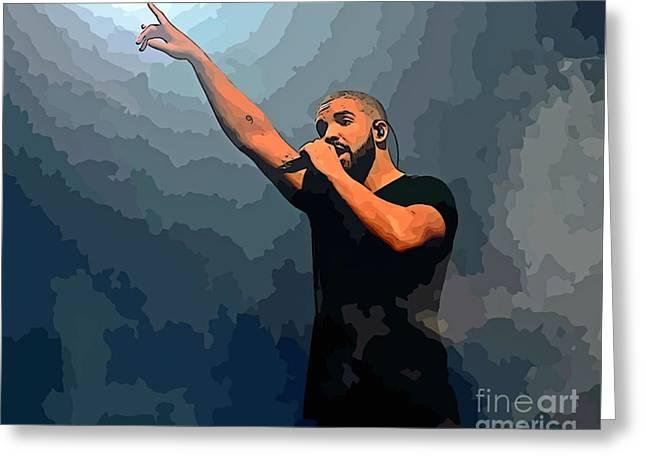 Drake Abstract Art Greeting Card