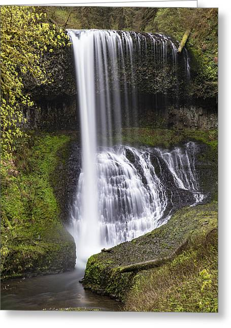 Drake Falls In Silver Falls State Park Greeting Card by John McGraw