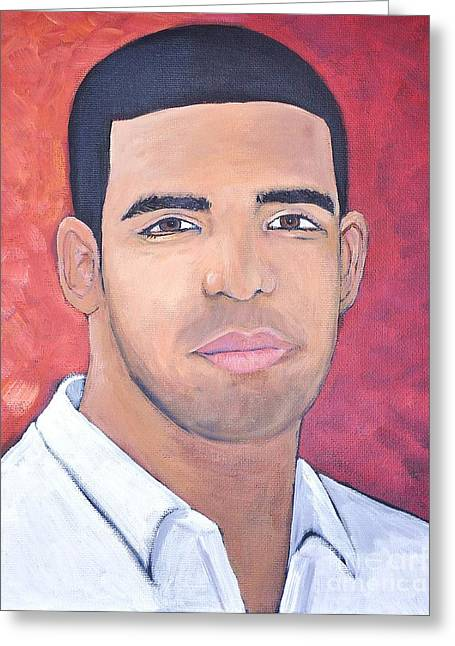 Drake Greeting Card by Reb Frost