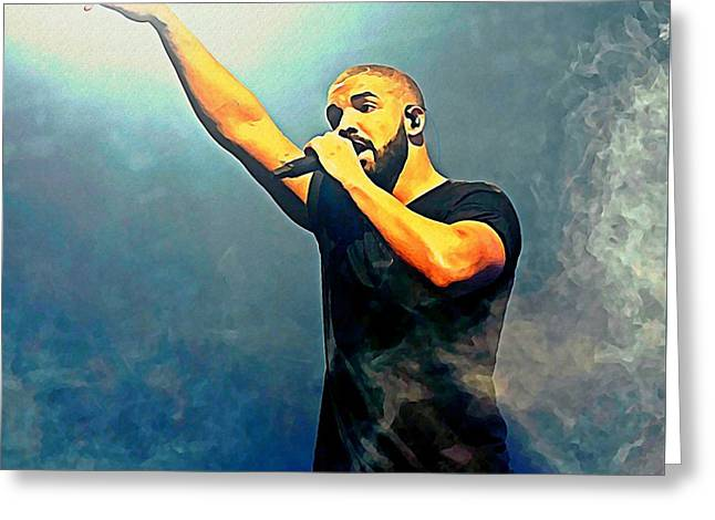 Drake Watercolor Portrait Greeting Card