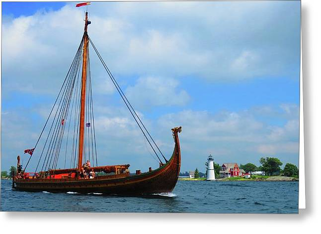 The Draken Passing Rock Island Greeting Card