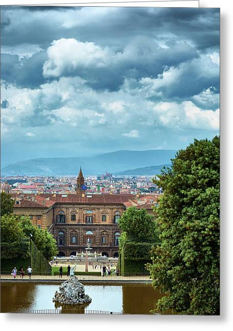 Drama In The Palace Of Firenze Greeting Card