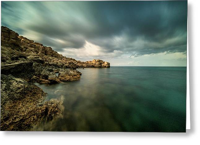 Dramatic And Calm Greeting Card by Stelios Kleanthous