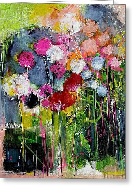 Dramatic Blooms Greeting Card by Nicole Slater