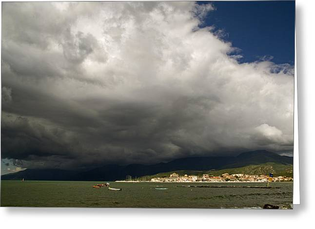 Greeting Card featuring the photograph Dramatic Clouds by Rod Jones