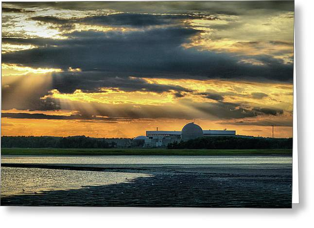 Dramatic Sky Before Sunset Greeting Card by Lilia D