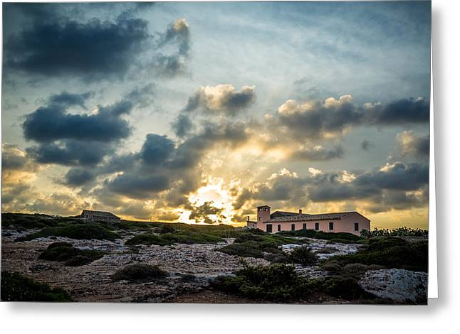 Dramatic Sunset Greeting Card by Alfio Finocchiaro