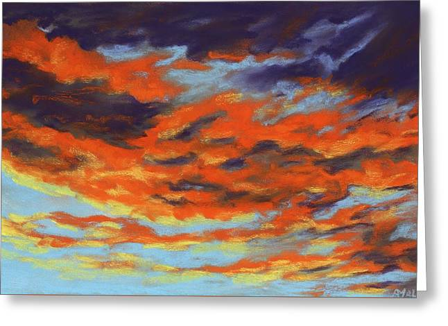 Dramatic Sunset - Sky And Clouds Collection Greeting Card