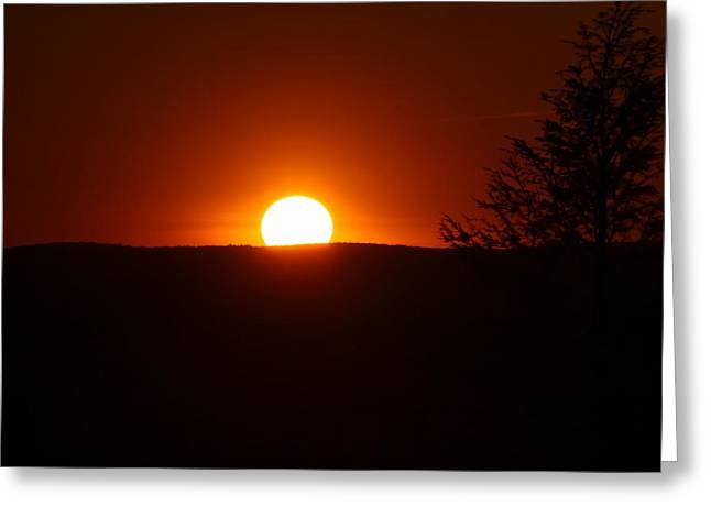 Dramatic Sunset View From Mount Tom Greeting Card