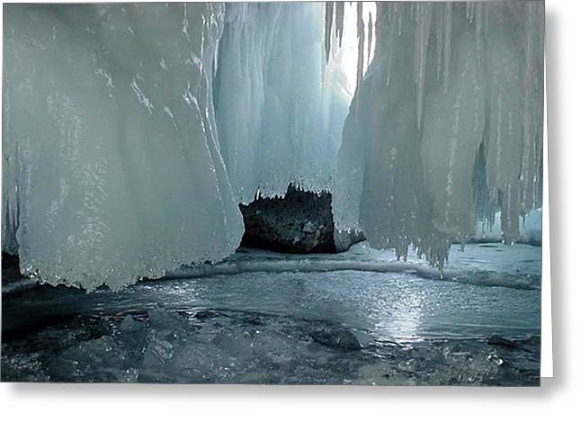 Draped Ice Greeting Card by Patricia Bigelow