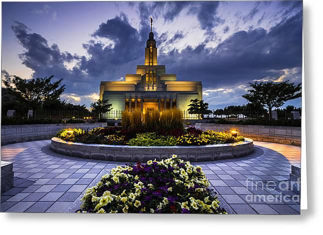 Draper Mormon Lds Temple - Utah Greeting Card by Gary Whitton