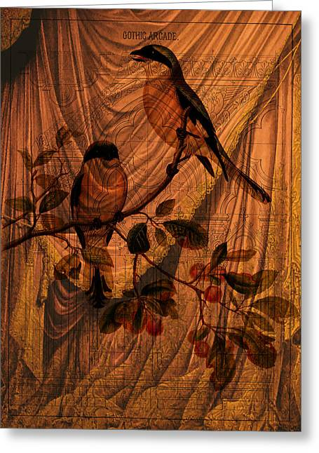 Draw Back The Curtain Greeting Card by Sarah Vernon