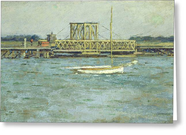 Drawbridge Greeting Card by Theodore Robinson