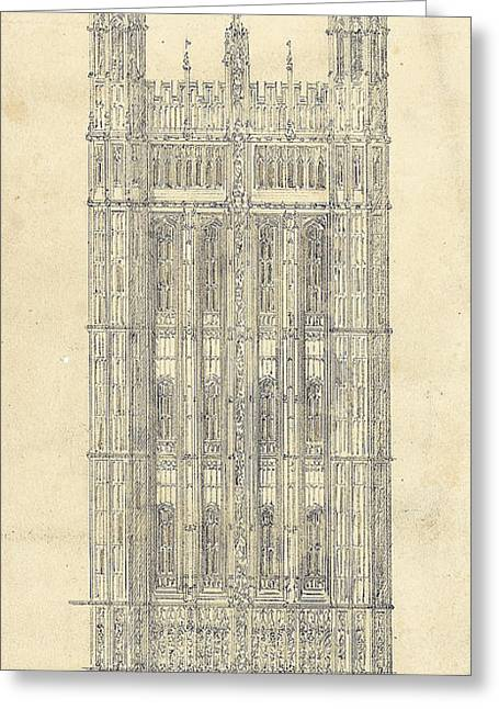 Drawing For The Houses Of Parliament Greeting Card