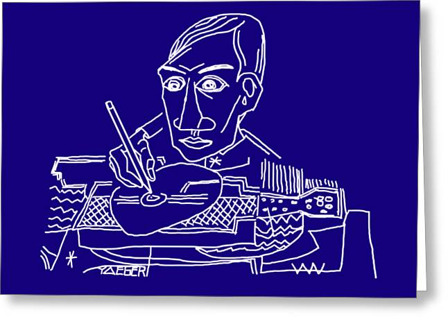 Drawing Picasso Greeting Card by Robert Yaeger