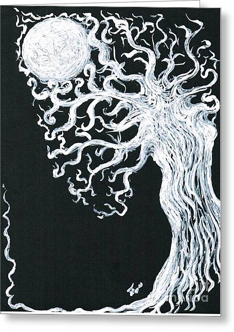 Drawn To The Moonlight  Greeting Card