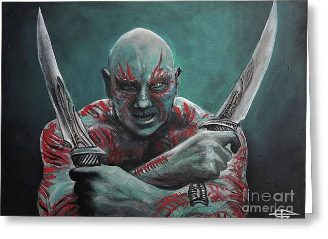 Drax The Destroyer Greeting Card by Tom Carlton