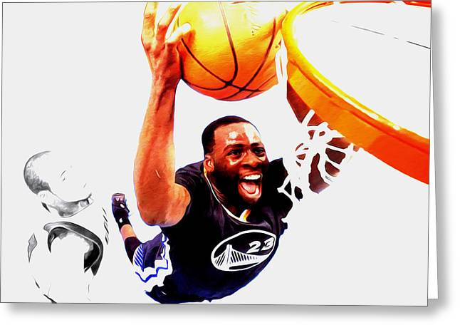 Draymond Green Taking Flight Greeting Card by Brian Reaves