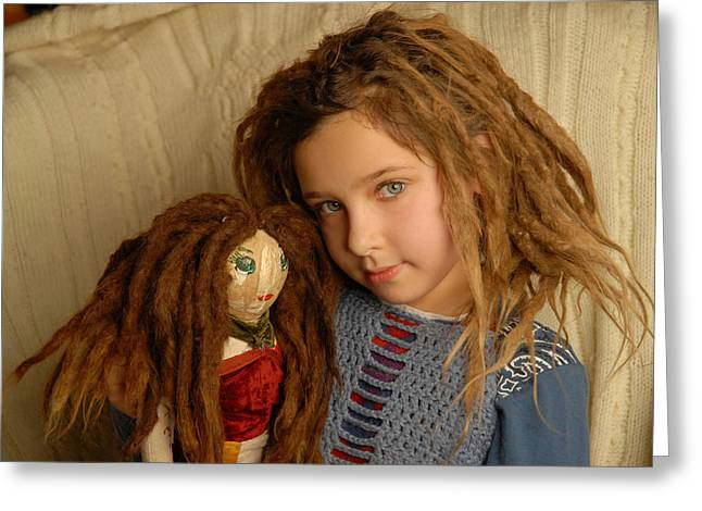 Dreadlock Dollz Greeting Card by Rich Beer