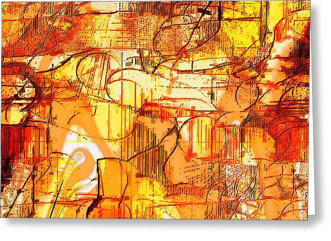 Dream Abstract Greeting Card by Ilona Burchard