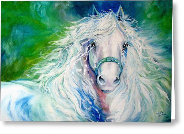 Dream Andalusian Greeting Card by Marcia Baldwin
