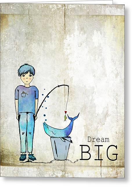 Dream Big Whale In Bucket Ginkelmier Greeting Card
