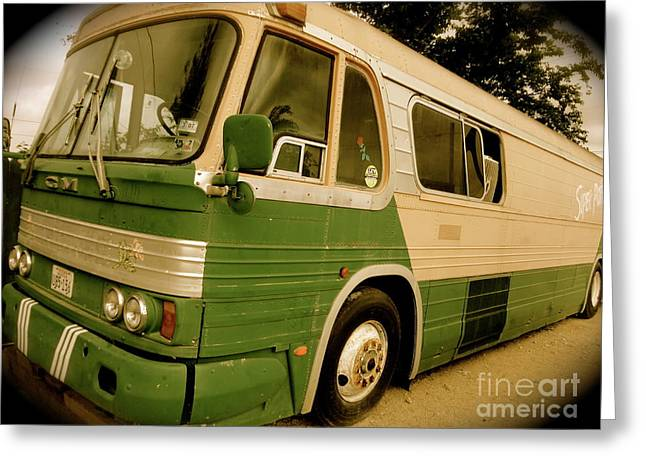 Dream Bus Greeting Card by Chuck Taylor