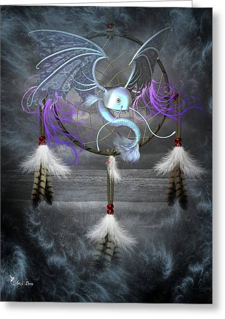 Dream Catcher Dragon Fish Greeting Card