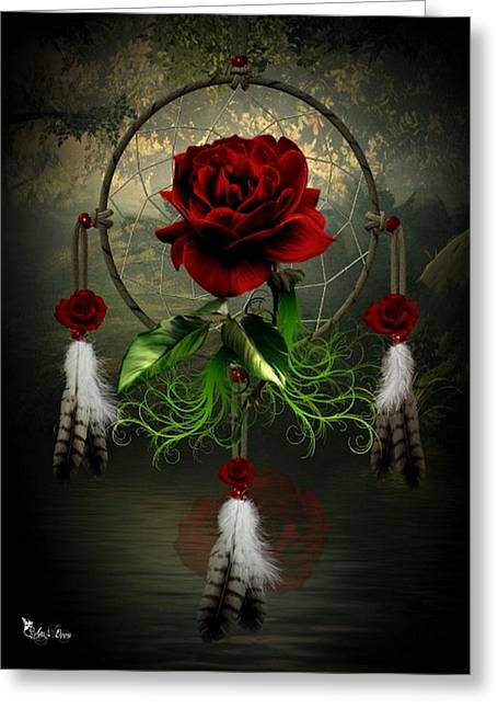 Dream Catcher Rose Greeting Card