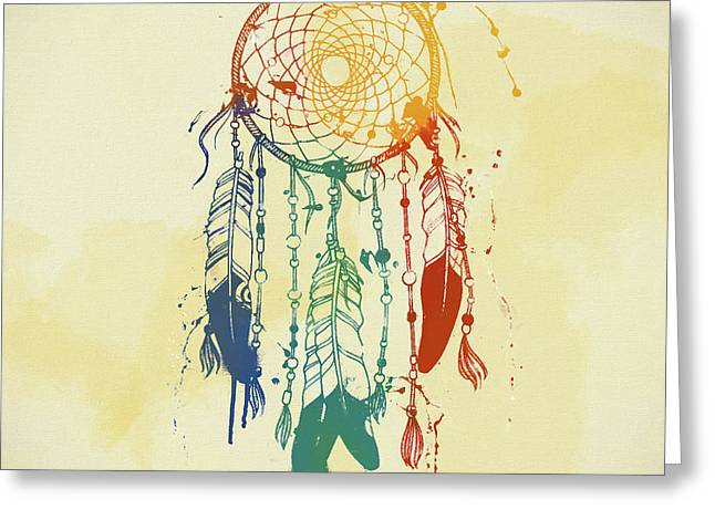 Dream Catcher Watercolor Greeting Card