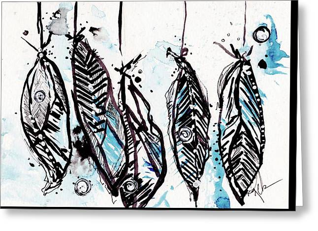 Dream Catchers Greeting Card by Reba Mcconnell