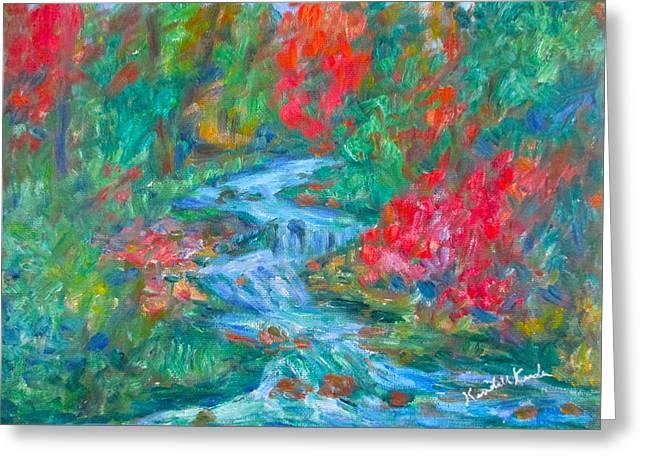 Dream Creek Greeting Card by Kendall Kessler