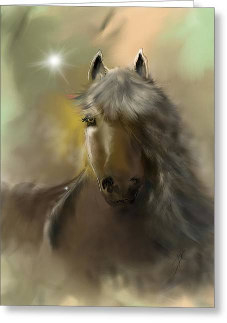 Greeting Card featuring the digital art Dream Horse by Darren Cannell