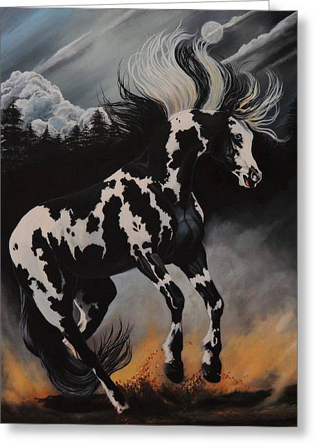 Dream Horse Series 12 - When Night Fall's Greeting Card