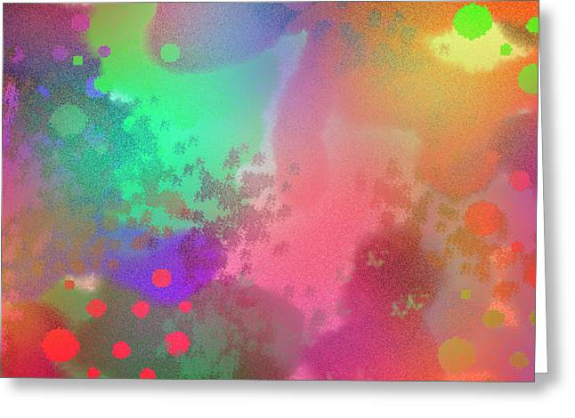 Dream In Abstract - Pointillist Digital Painting Greeting Card