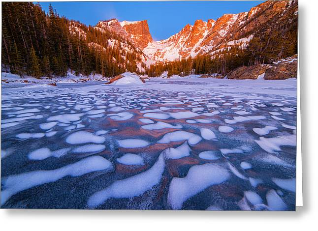 Dream Lake Dimples Greeting Card by Darren  White