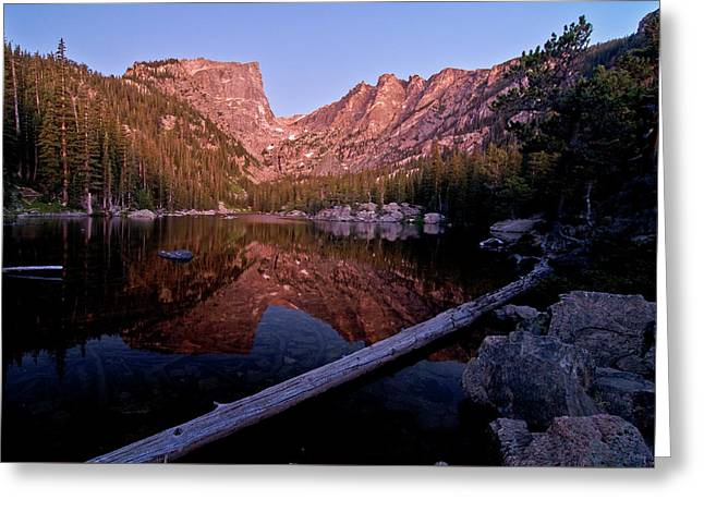Greeting Card featuring the photograph Dream Lake by Gary Lengyel