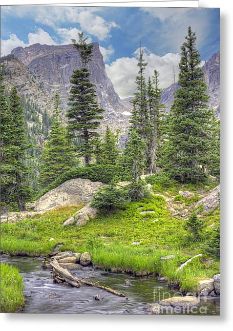 Dream Lake Greeting Card by Juli Scalzi