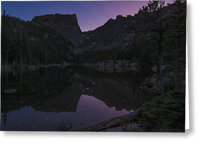 Greeting Card featuring the photograph Dream Lake Reflections by Gary Lengyel
