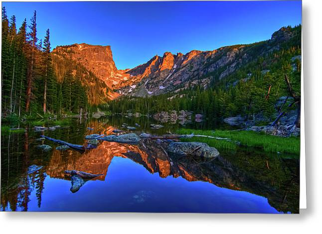 Dream Lake Sunrise Rocky Mountain Natl Park Greeting Card