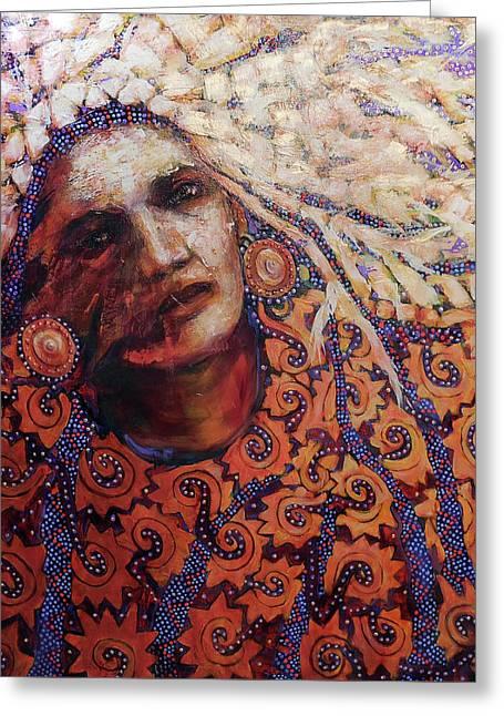 Dream Messenger-ancient Sun Greeting Card