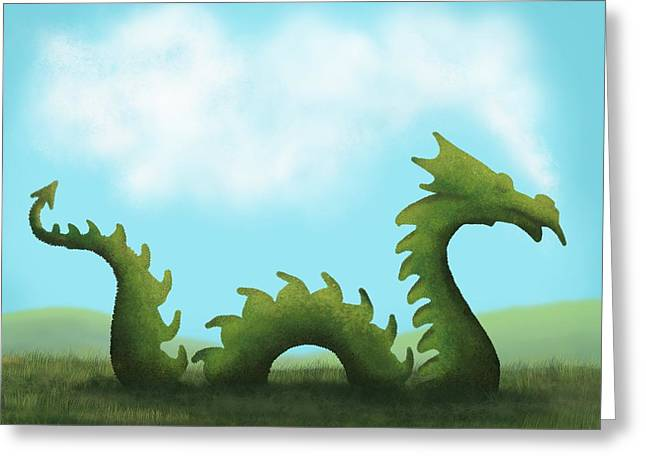 Dream Of A Dragon Greeting Card by Little Bunny Sunshine