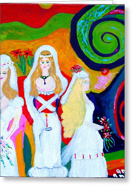 Dream Of A Jungian Marriage Greeting Card by Angela Annas