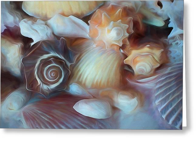 Greeting Card featuring the mixed media Dream Of Seashells by Lynda Lehmann