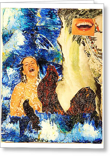 Dream Of The Fisherman's Wife Greeting Card by Howard Goldberg