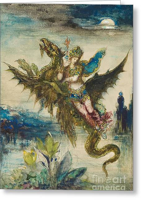 Dream Of The Orient Or The Peri Greeting Card by Gustave Moreau