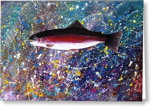 Dream Of The Rainbow Trout Greeting Card by Lee Pantas