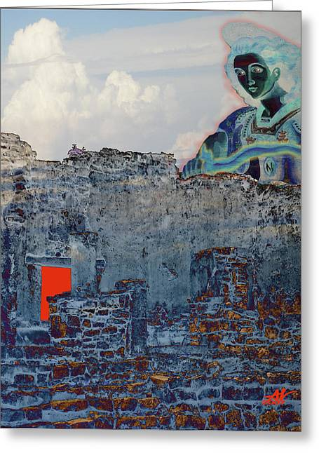 Dream Of Tulum Ruins Greeting Card by Ann Tracy