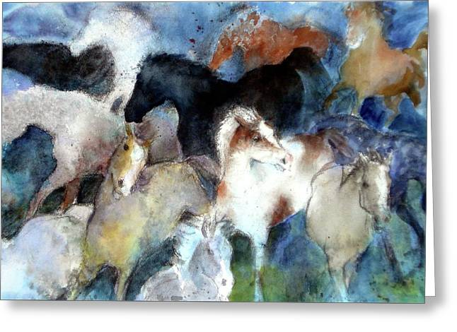 Dream Of Wild Horses Greeting Card